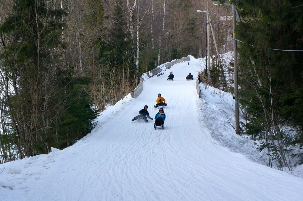 """From Frognerseteren ypu can sledge down the 2 km long """"Corkscrew"""""""