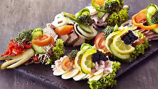 Scandinavian Smørrebrød and Smörgåsbord