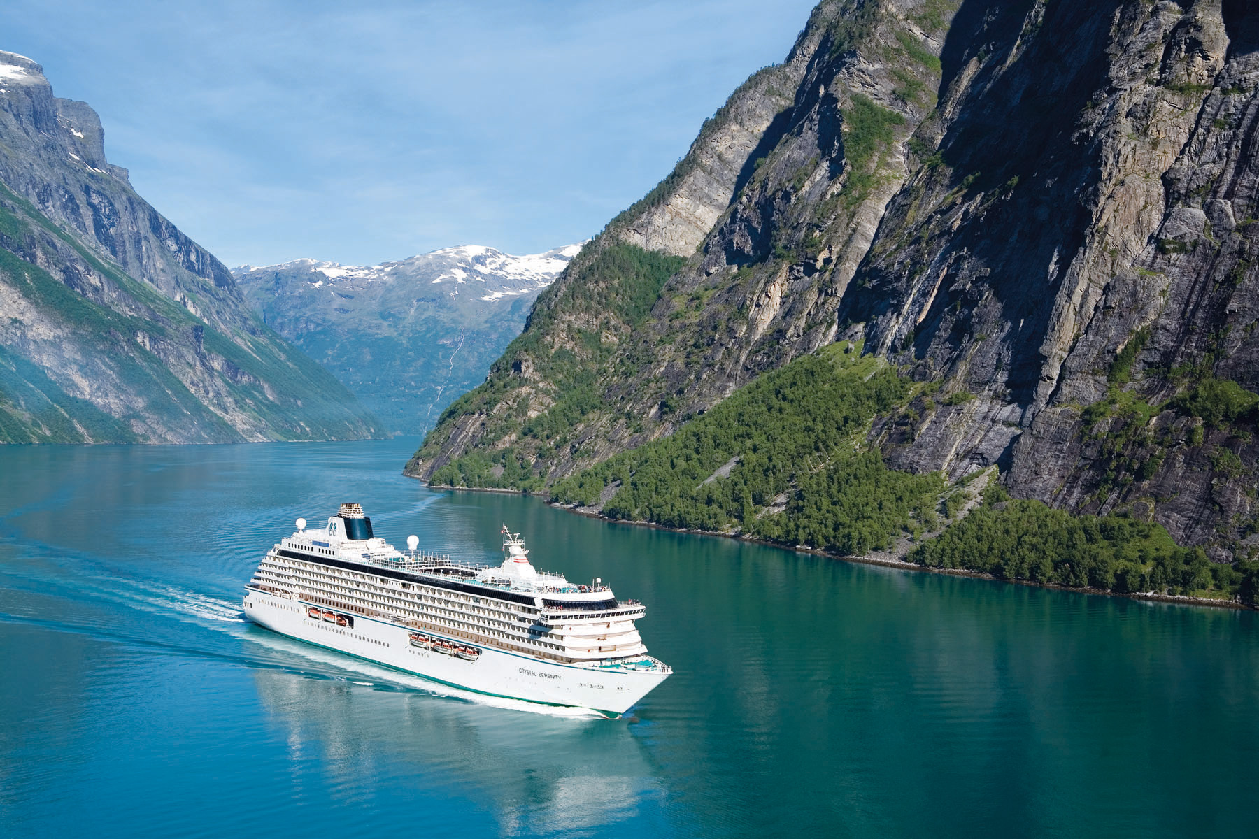 Crystal Serenity at Geiranger Fjord - Norway