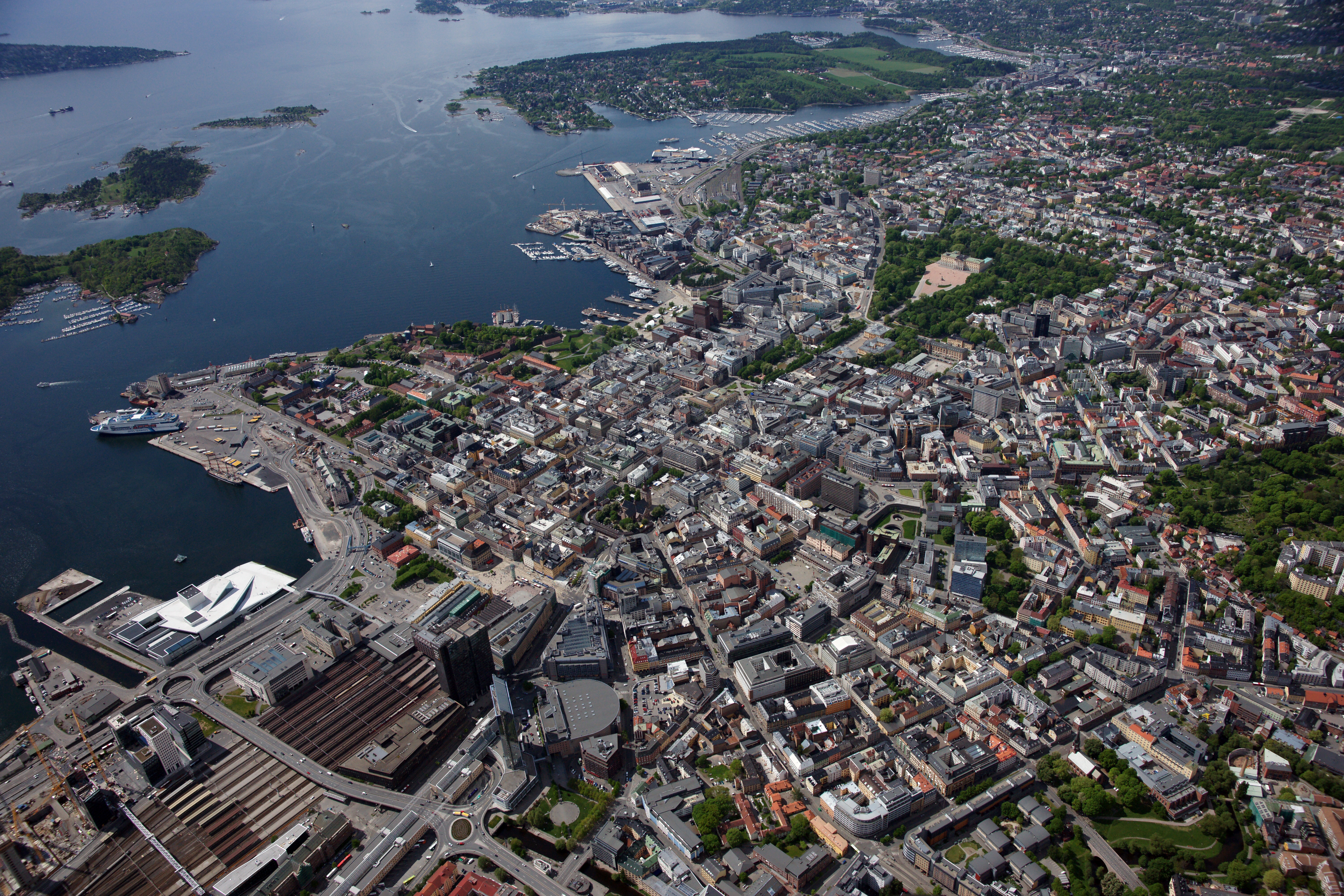 Oslo seen from above. Photo: Lasse Tur