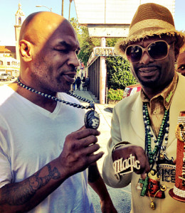 Mike Tyson and Don Magic Juan wearing King Ice