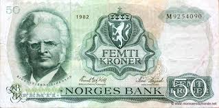 Bjornson on Norwegian bank note