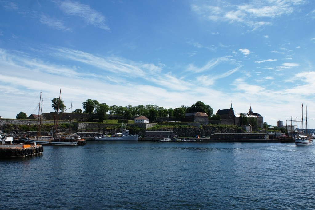 Passing Akershus fortress on our way back