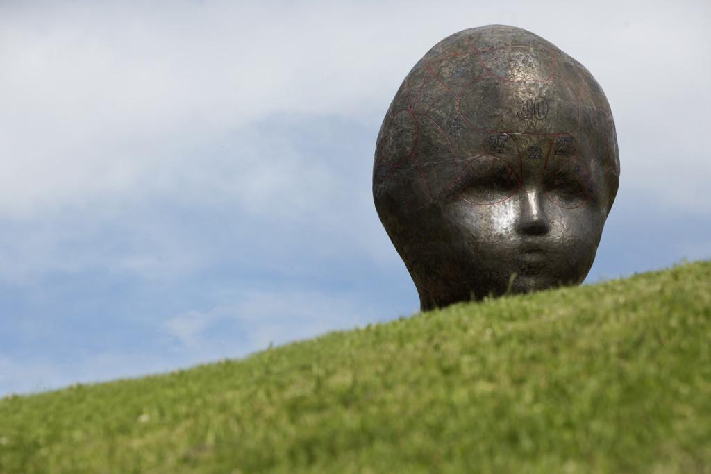 Marianne Heske, skulpturstopp, avdukning, Torshovdalen, Hodet