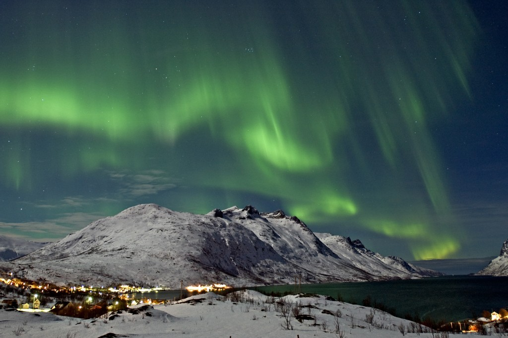 Northern lights in Tromsoe, Norway. Photo: Innovation Norway/Bjorn Jorgensen