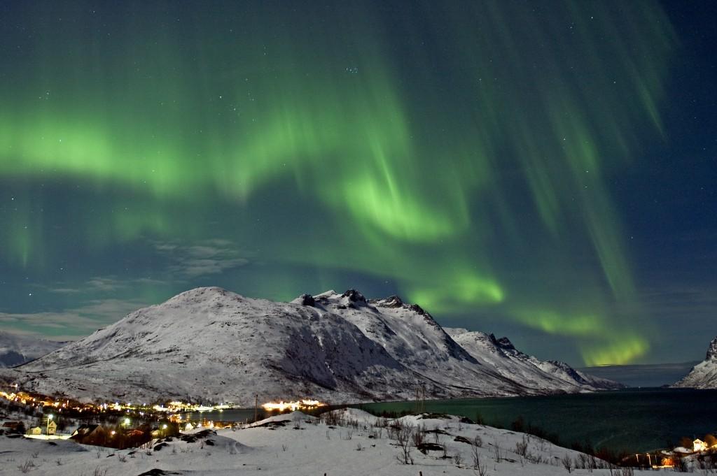 Northern lights in Tromsoe, Norway. Photo: Innovation Norway/Bjorn Jorgensen