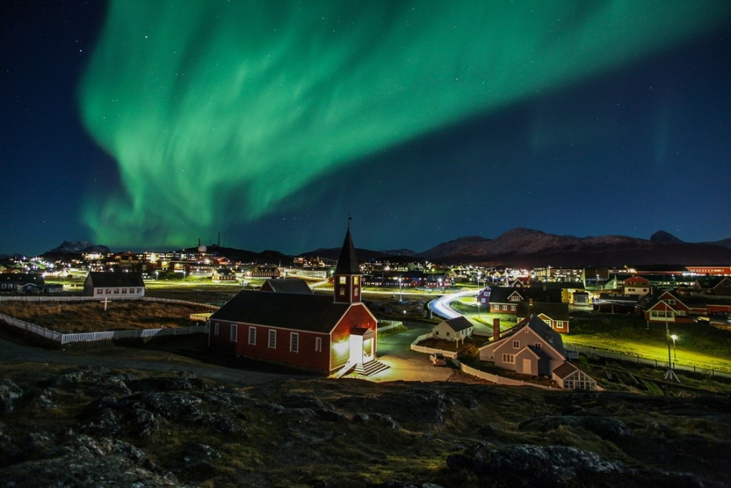 Nirthern lights in Greenland