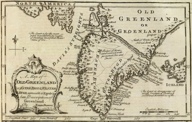 Old Greenland map