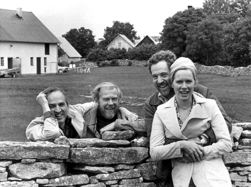Ingmar Bergman, Sven Nykvist, Erland Josephson and Liv Ullmann on Faro.