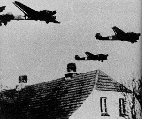 German planes over Denmark 1940