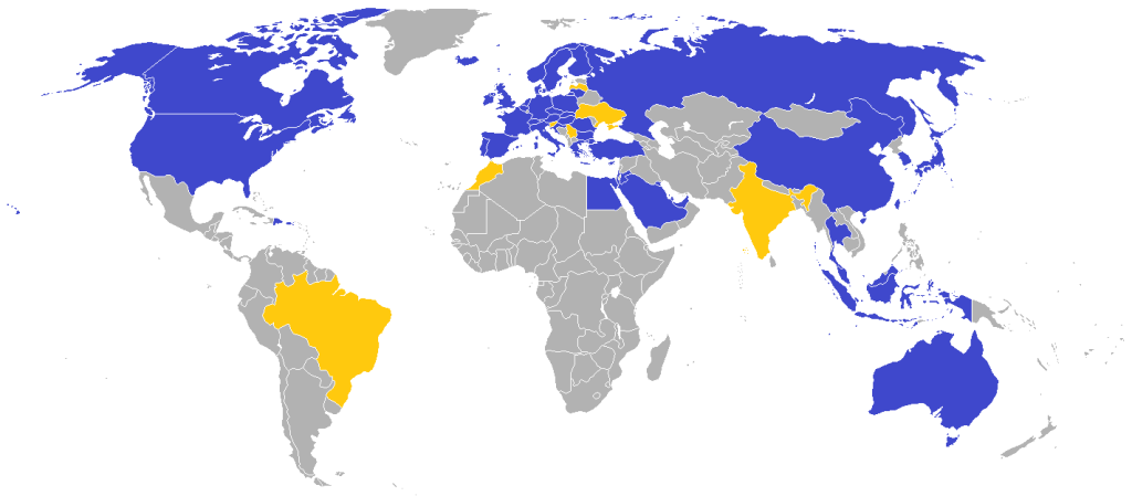Map of Ikea stores around the world 2014-2015