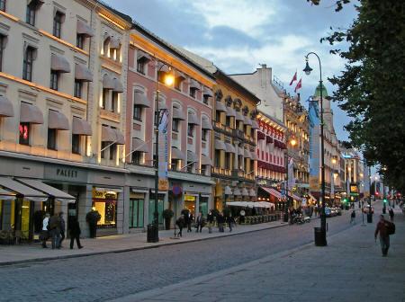 Oslo main street Karl Johan