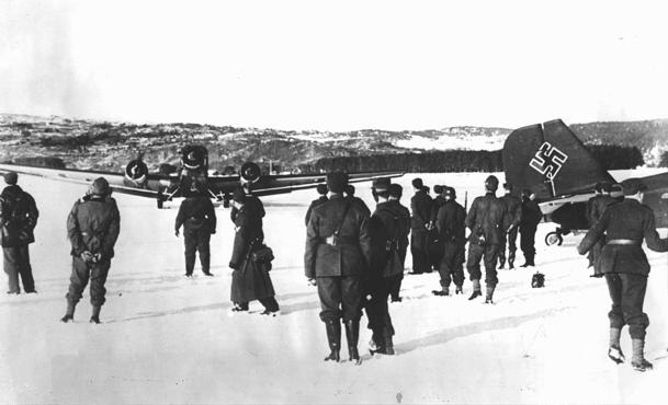 German troops and bombers in Norway