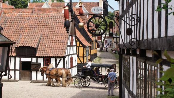 The old town in Aarhus