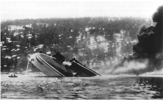 Blücher sinking