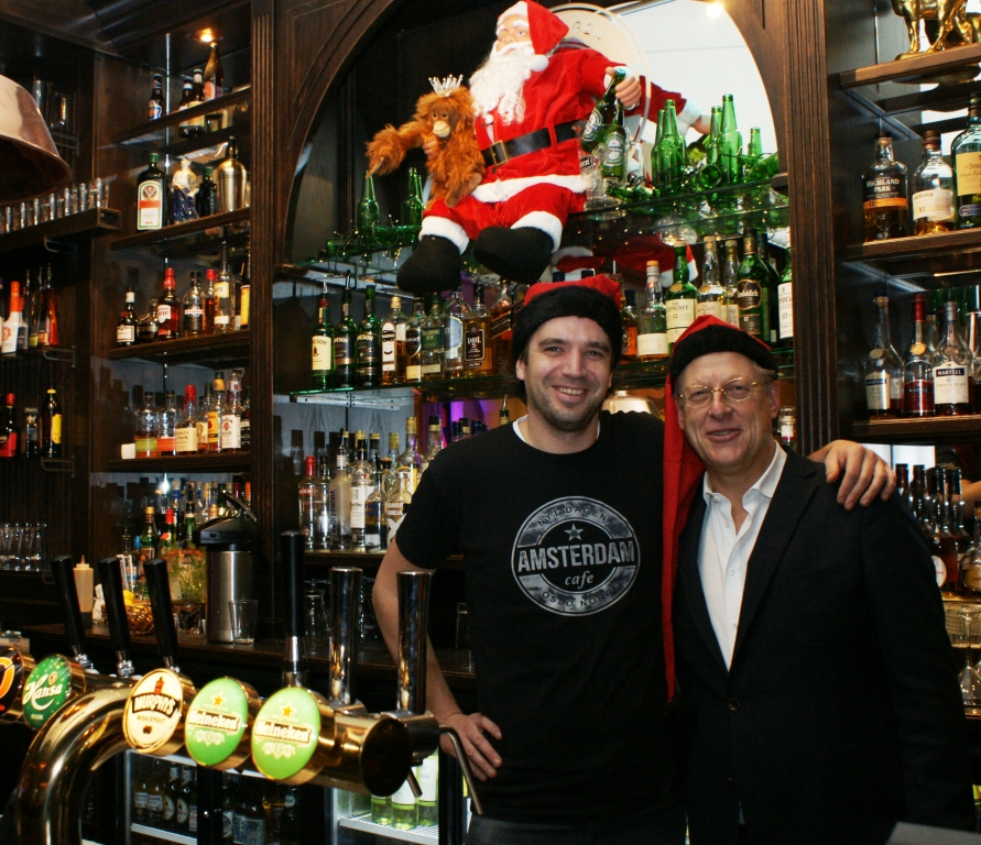 Cafe manager Niels Smits (left) with owner Peter Romme