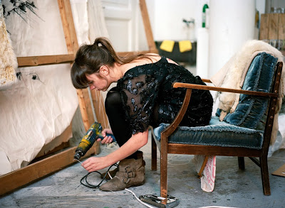 Ann Cathrin preparing for a masterpiece in 2010