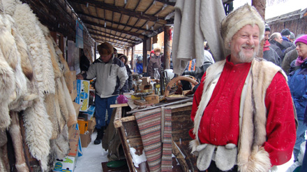 Røros market stalls