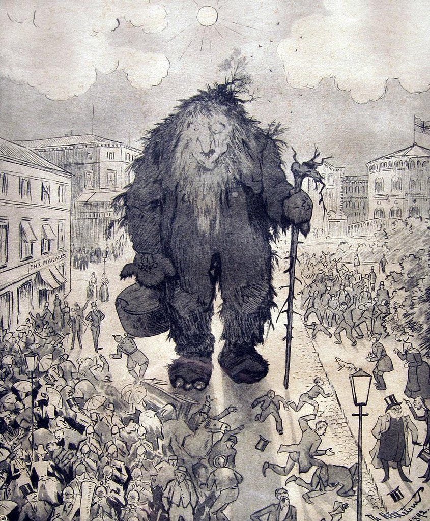 Troll in Karl Johansgate (main street) in Oslo
