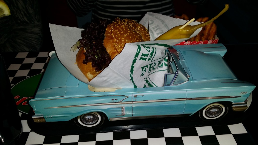 Enjoy a Buick burger at Mandy's Diner
