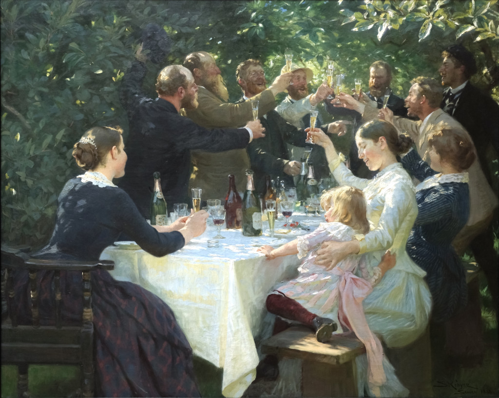 Party in 19th century Denmark. Painting by Peder Severin Kroyer