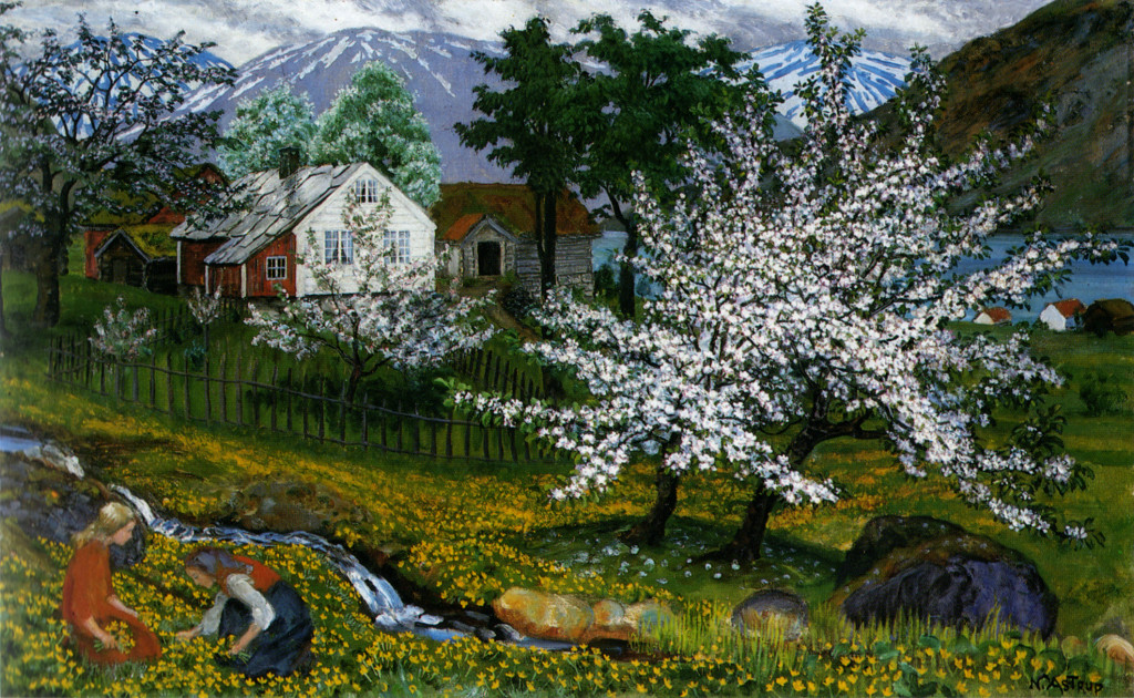 Astrup, Apple Trees in Blossom