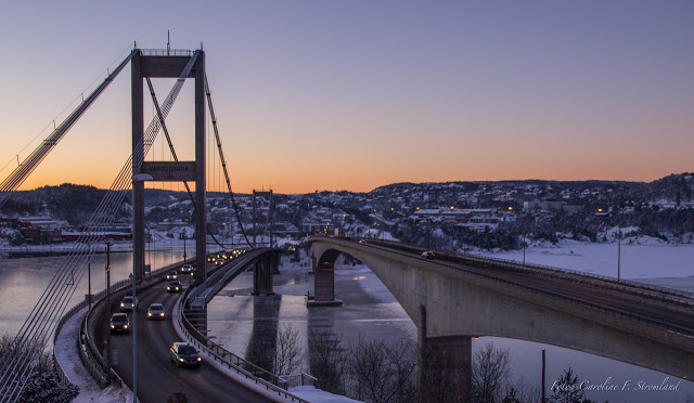 Wintertime at Varodd Bridge, Kristiansand