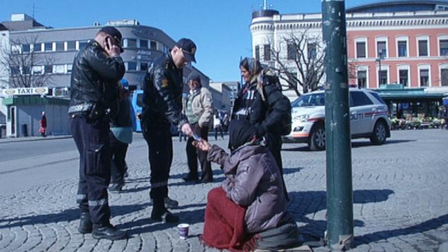 Beggar in Oslo