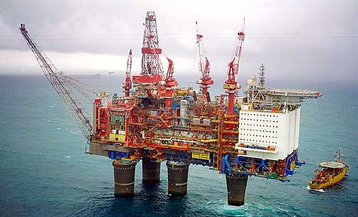 Norwegian oil rig