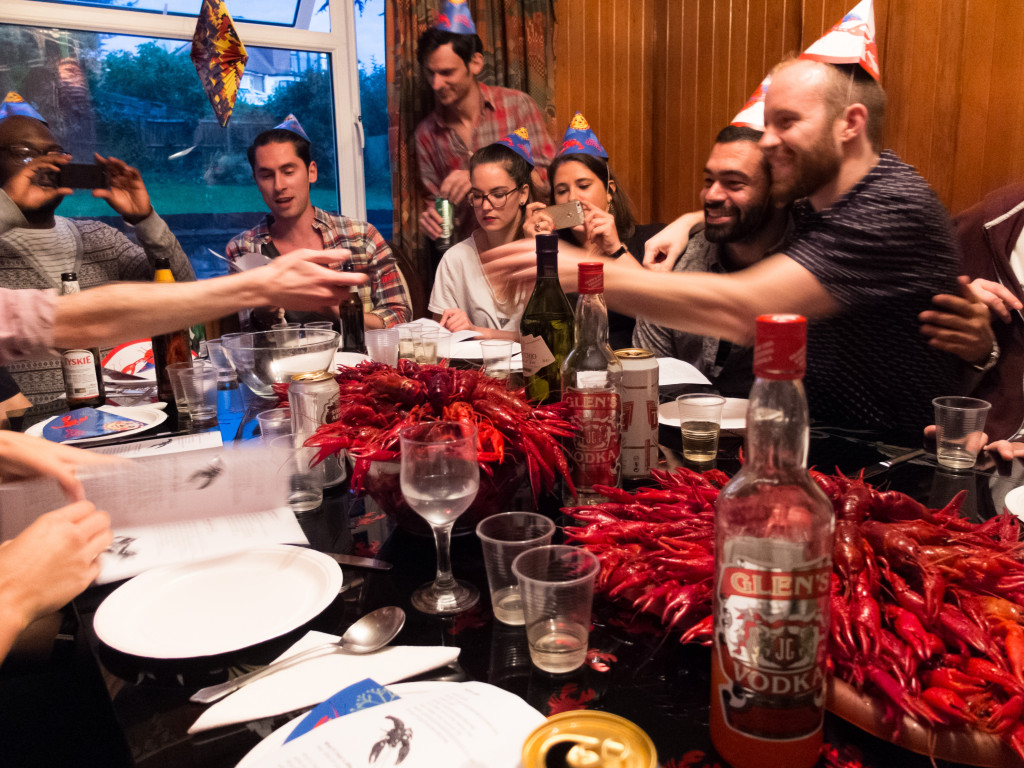 Crayfishparty in Sweden