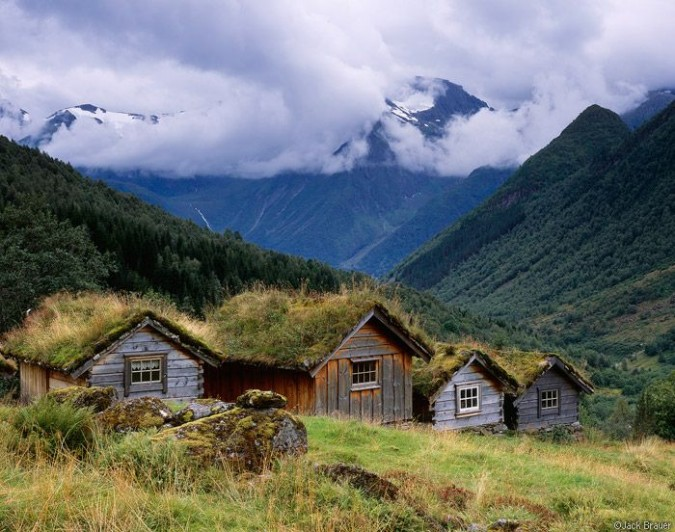 Norwegian mountain farm