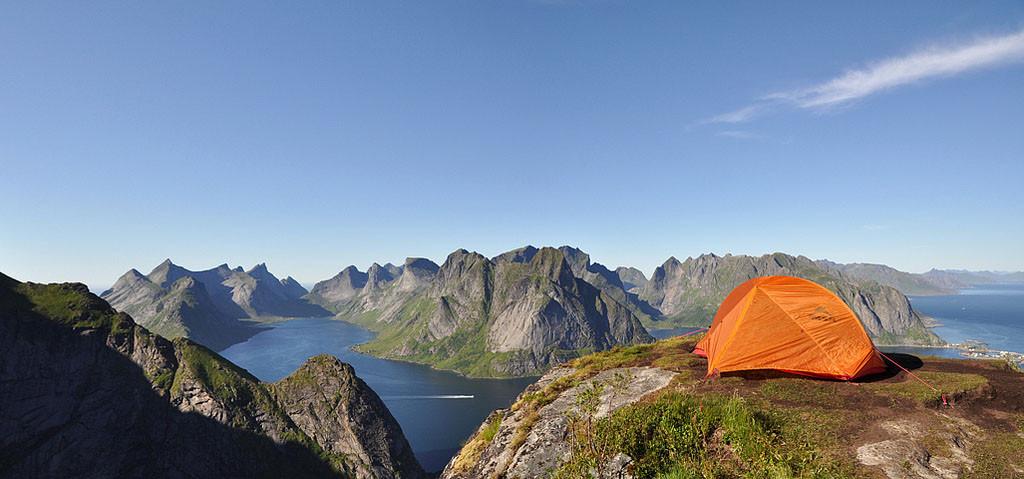 Hiking in Lofoten, Norway