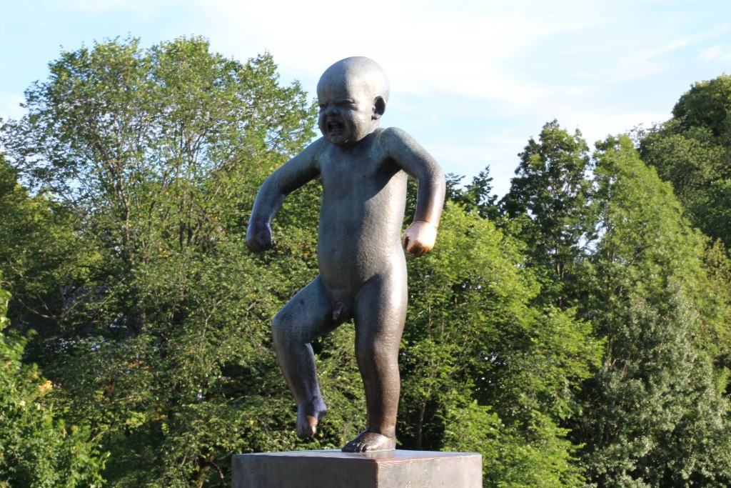 Tantrum boy in the Vigeland park