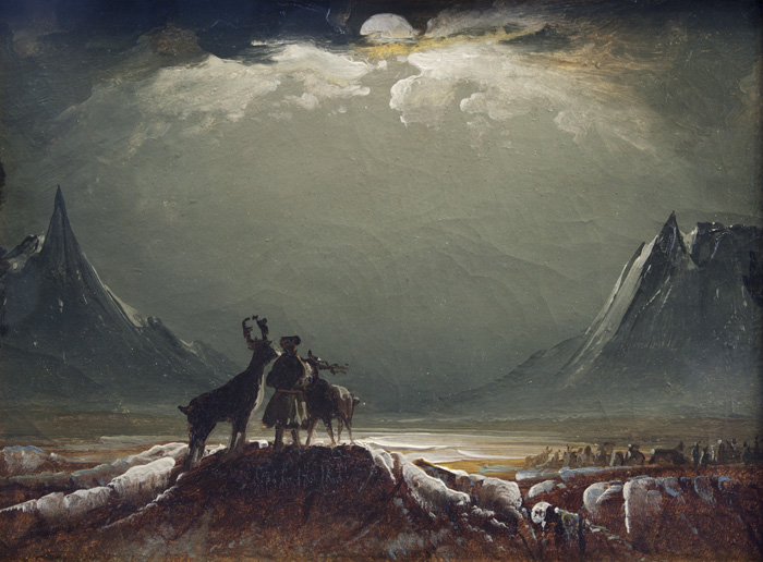 Peder Balke, Sami with Reindeer, about 1850. Northern Norway Art Museum