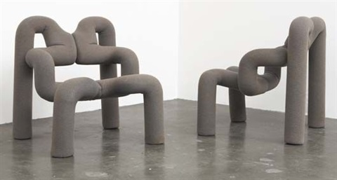 Pair of Ekstrem lounge chairs by Terje Ekstrom