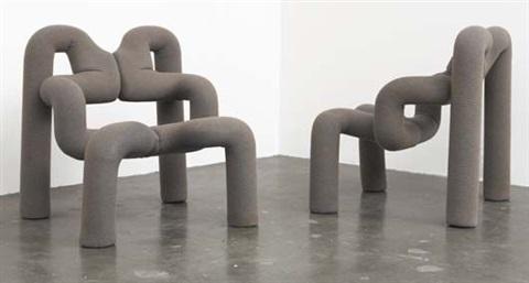 Pair of Ekstrem lounge chairs by Terje Ekstrom
