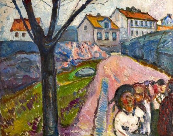 Summer in Kragerø (oil on canvas) by Edvard Munch (private collection)