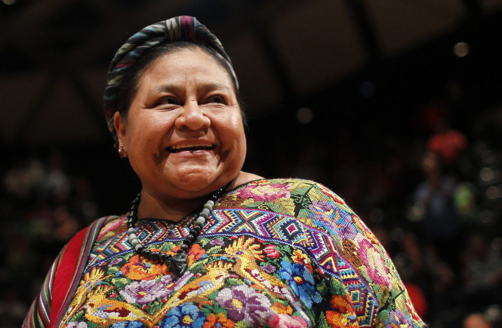 Nobel Peace Prize winner Menchu attends a meeting of indigenous communities in Caracas
