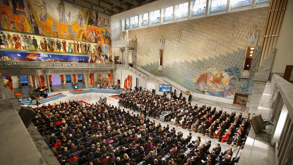 Nobel Peace Prize ceremony in Oslo