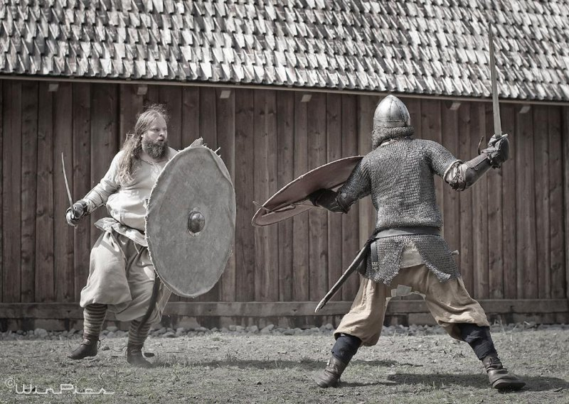 Viking activity at Midgardblot Festival.Photo: Espen Winther