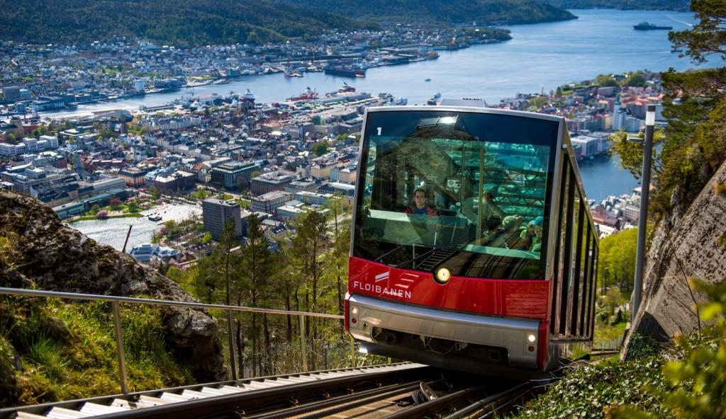 Trancar to Fløyen in Bergen. Photo: Sverre Gjørnevik, Visit Bergen