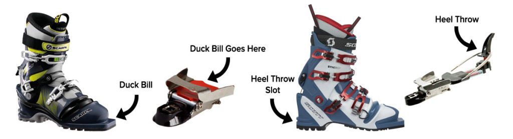 Telemark ski binding and boots