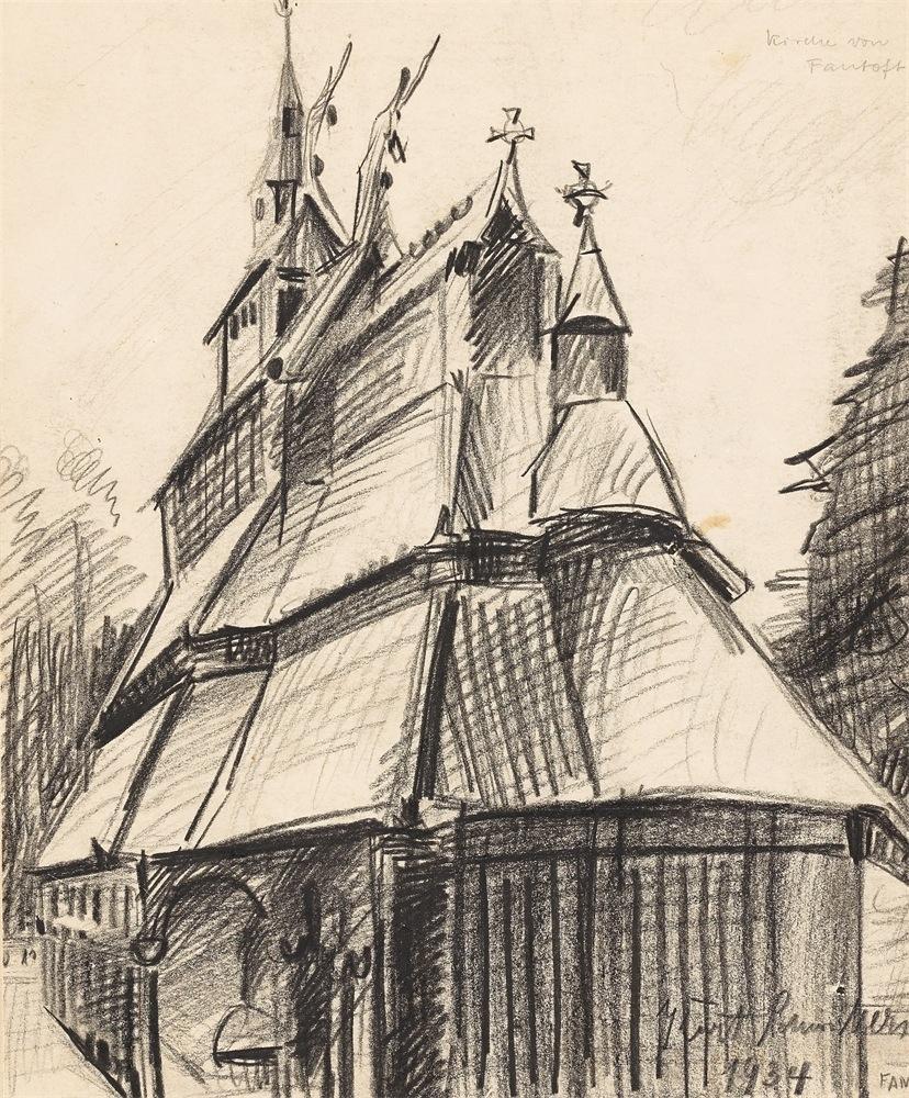 Church at Fantoft by Kurt Schwitters