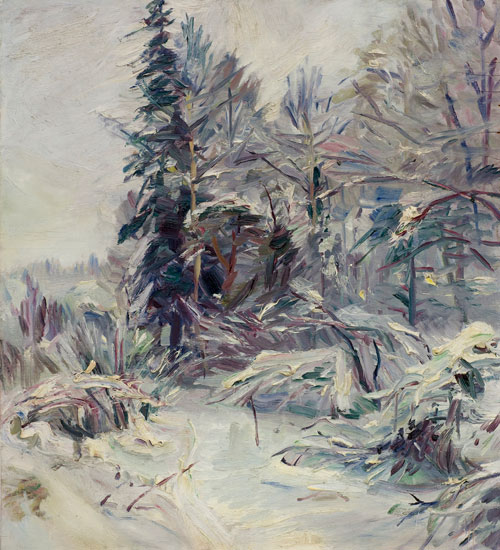 Painting on plywood from Lysaker, about 1939