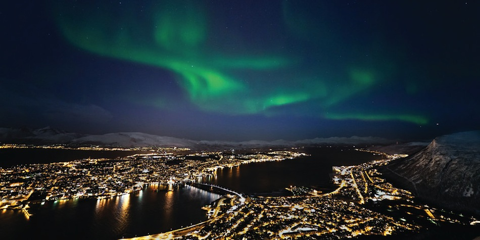 Northern lights in Tromsoe
