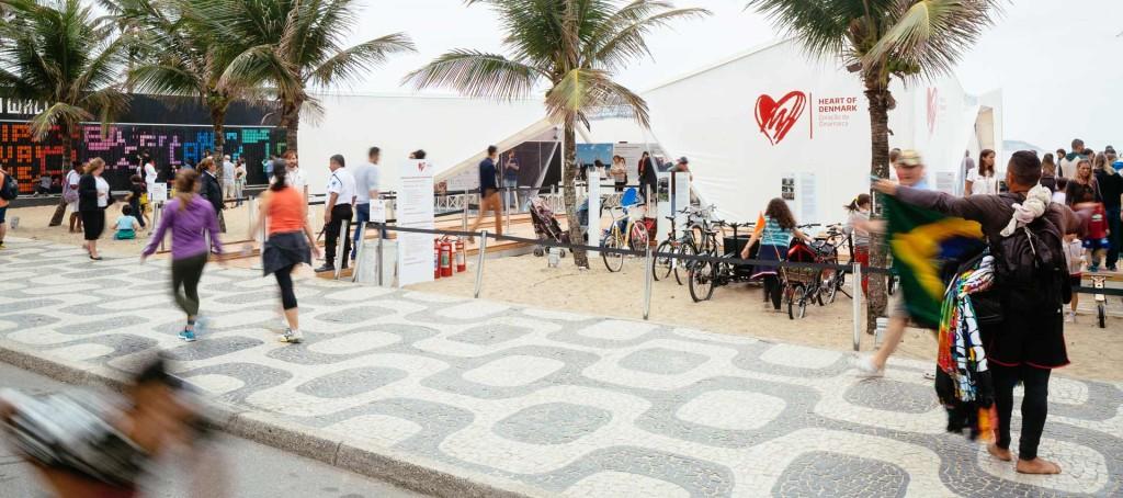 Olympic Pavilion on Ipanema Beach, Rio de Janeiro