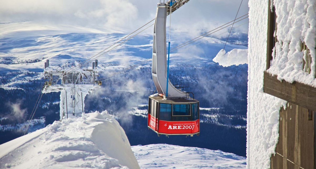 Åre is the most well known ski resort in Sweden