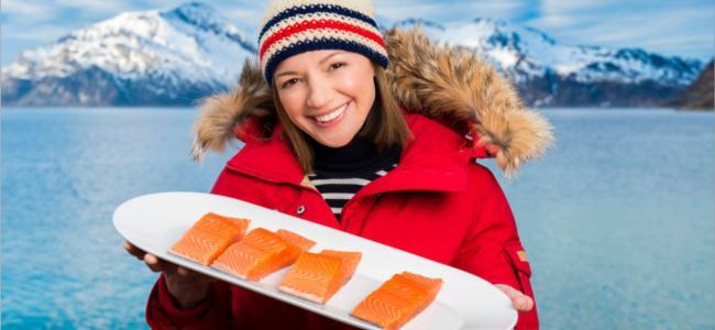 Notwegian salmon festival