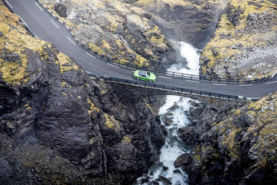 Driving at King's Road, Norway