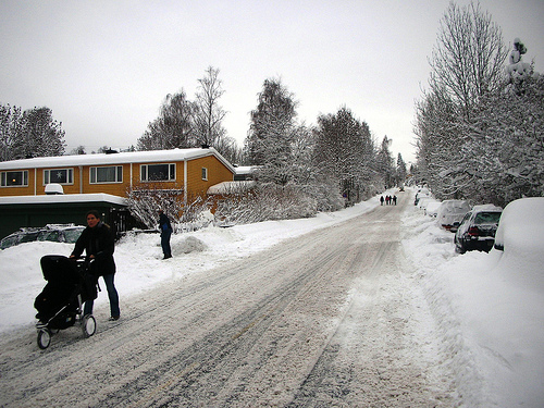 Snow in Norway winter wonder land